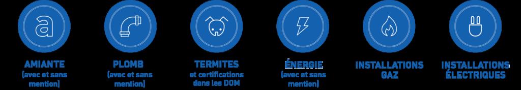 Domaines certification diagnostiqueur immobilier